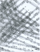 One of seven drawings created from the chance composition, The Fatal Movement; (c) JRow, 2011. For more information: http://jrowart.com/2012/07/13/chance-music-and-machine/